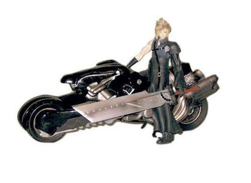 Hot Sale Final Fantasy Advent Children Cloud Strife & Fenrir Motorcycle Action Figure Deluxe Set