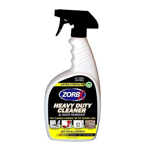 ZorbX Extra Strength Heavy Duty Cleaner and Odor Remover – Non-Toxic - graffiti remover - black marker remover - paint and adhesive remover - safe for all surfaces