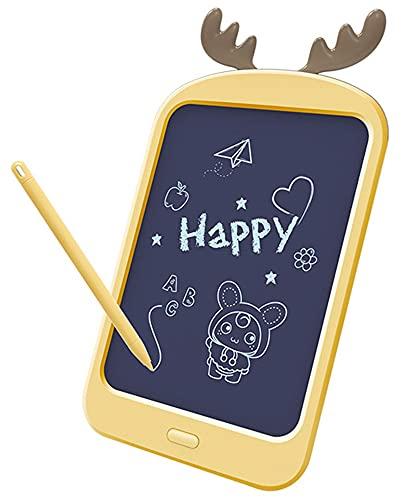 Xyfw Tableta De Escritura LCD Digital De 8.8 Pulgadas para Niños, Tableta De Dibujo, Almohadillas De Escritura A Mano, Tableta Gráfica Electrónica Portátil Ultrafina,Amarillo