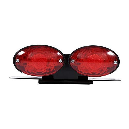 Duokon Motorcycle LED-achterlichten, Dual Cat Eye Custom kentekenplaathouder achterlichten