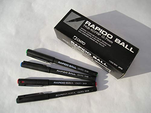 OHTO JAPAN Kugelschreiber 12 Stück Farbe Rot
