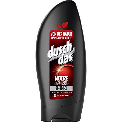 Duschdas 2-in-1 douchegel & shampoo, voor een langdurige geur Noire dermatologisch getest,250 ml