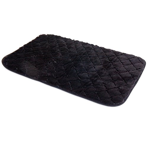 SNOOZZY BLACK 29X18  QUILTED MAT