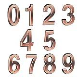luning Numeri 3D per Cassette Postali, Adesivi per Numeri di Indirizzo 0-9 Decalcomanie Autoadesive per Numeri Civici Numeri Catarifrangenti per Porte per Cassette Postali di Casa excitement