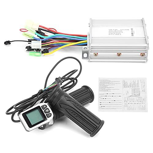 RiToEasysports 36 V / 48 V 450 W Motor Controlador sin escobillas Kit de Controlador de Scooter eléctrico con Pantalla LCD empuñadura del Acelerador