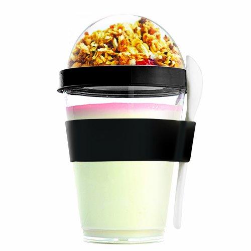 Asobu YO2GO Yogurt Container Black