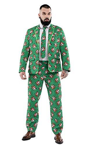 U LOOK UGLY TODAY Traje de Navidad para hombre, divertido traje de Navidad, traje de Navidad feo, ajuste regular