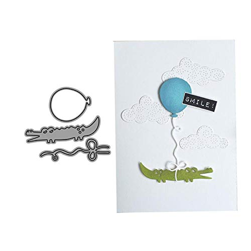 Krokodil en ballon metaal snijden Dies Stencils voor DIY Scrapbooking/Foto Album Decoratieve Stempel Album Embossing DIY Card