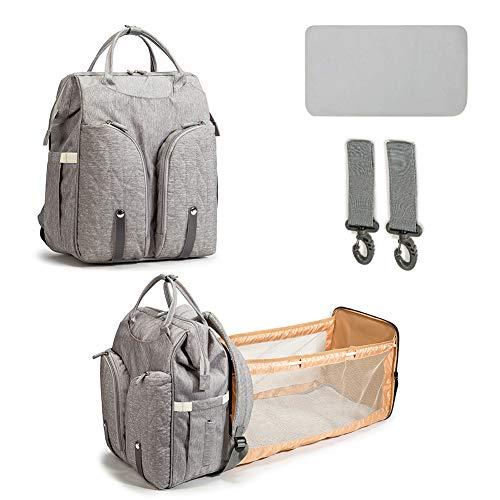 Mumaya Portable Backpack Diaper Bag with Folding Crib Large Capacity Diaper Bag Baby Bed Bags Stroller Bag