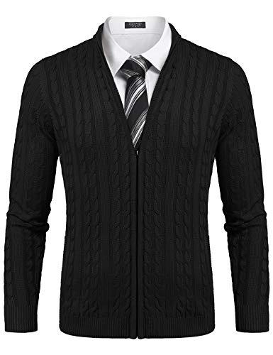 COOFANDY Herren Jacket Sweater Hochwertiger Sweatshirts Baumwolle vielseitig kombinierbar Bequeme