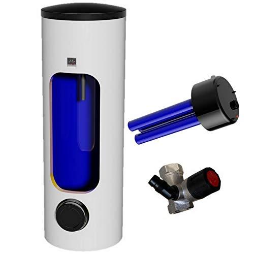 Elektrospeicher Standspeicher Warmwasserspeicher - mit integrierter verschleißfreier Keramikheizpatrone mit Zirkulationsanschluß in den Größen 100 125 160 200 250 300 Liter