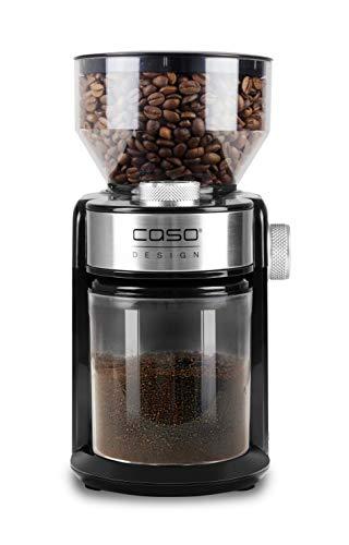 CASO Barista Crema - Elektrische Design- Kaffeemühle, Mahlgradeinstellungen von fein bis grob, aromaschonendes Mahlen durch professionelles Scheibenmahlwerk, leistungsstarker 150 Watt Motor