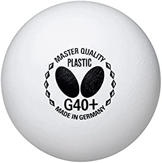 Butterfly G40+ Master Quality Table Tennis Balls - 72 Pack - 40mm - White - Plastic