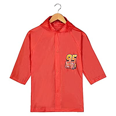Disney Pixar Cars Lightning Mcqueen Boy's Red Rain Slicker Size - 4/5