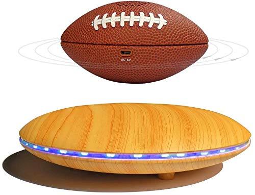 LLSS Schwebender kabelloser Bluetooth-Lautsprecher, magnetisch schwebender Bluetooth-Lautsprecher Kreatives Rugby-Design, 360-Grad-Surround-Sound, für einzigartige Geschenke, Nachtlicht,