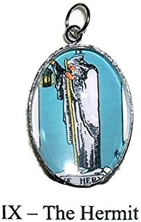 THE HIGH PRIESTESS TAROT CARD CHARM Glass Covered Altered Art for Bracelets Necklaces Pendants
