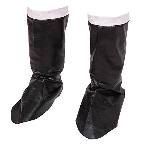 Santa Claus Botas Negro Pirata Cubre Zapatos de Cuero Cosplay de X'Mas...