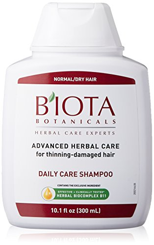 B'IOTA Botanicals Herbal Care Experts Daily Care Shampoo For Normal/Dry Thinning Hair, 10.1 OZ