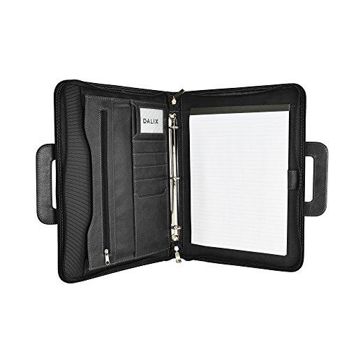 DALIX Professional Excel Business Slim Portfolio Briefcase Organizer in Black