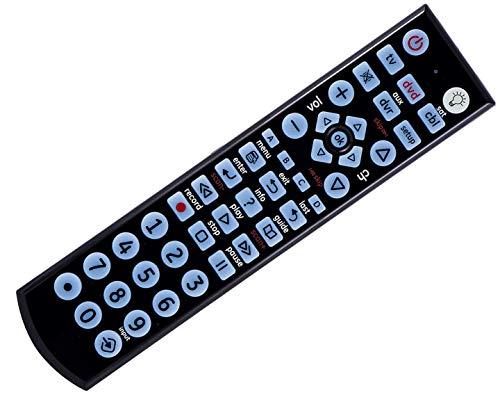 SccKcc Mando a distancia para Samsung, Vizio, LG, Sony, Sharp, Roku, Apple TV, RCA, Panasonic, Smart TV, reproductores de streaming, Blu-ray, DVD