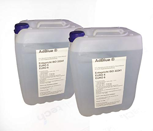 Gazcamp 2 x 10 Liter ADBLUE® Reduktionsmittel für Diesel-Motoren Harnstofflösung mit Ausgießer [der Ausgießer befindet Sich hinter dem Aufkleber]