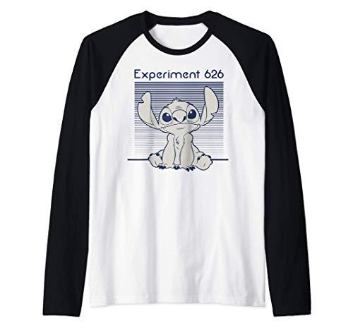 Disney Lilo & Stitch Experiment 626 Lined Portrait Camiseta Manga Raglan