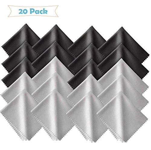 20 Stück Brillenputztuch Microfaser Optikerqualität,Mikrofaser Reinigungstücher,Brillen-Putztuch aus Mikrofaser,Mikrofaser Brillenputztuch,Microfaser Display Reinigungstuch