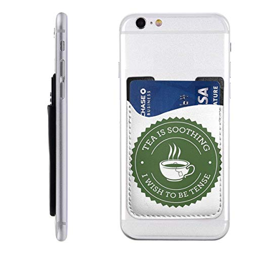 Thee Quote Telefoon Kaarthouder Stick Op Mobiele Telefoon Portemonnee Voor Credit Card, visitekaartje ID En Sleutels, Telefoon Pocket Voor Alle Telefoons