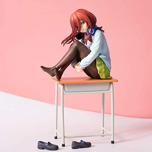 dsfew Kotobukiya Die Quintessenz Der Quintuplets Miku Nakano Anime Figur MäDchen PVC Actionfigur Spielzeug Modell Puppe Geschenk 19cm