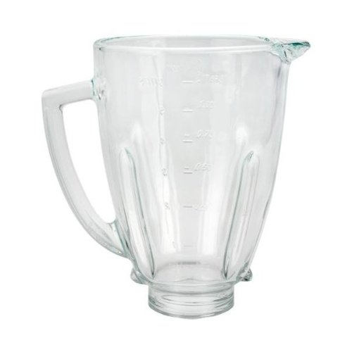 """Replacement 124461-000 Round Glass Blender Jar, 5"""" Opening"""