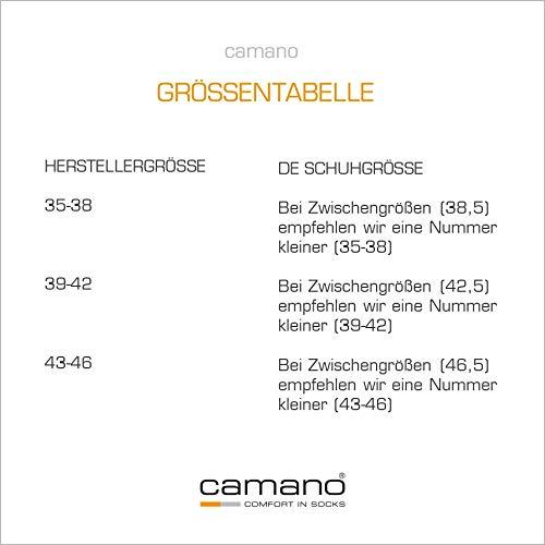 Camano Sneaker Socken Damen & Herren (10x Paar) Classics mit Baumwolle in Grau 39-42