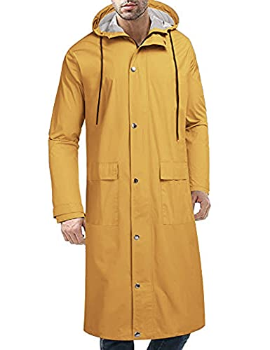 Impermeable Amarillo marca COOFANDY
