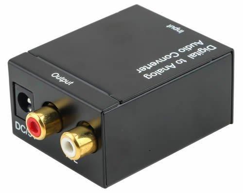 Woosh - Conversor digital y analógico de audio adaptador DAC Toslink coaxial...