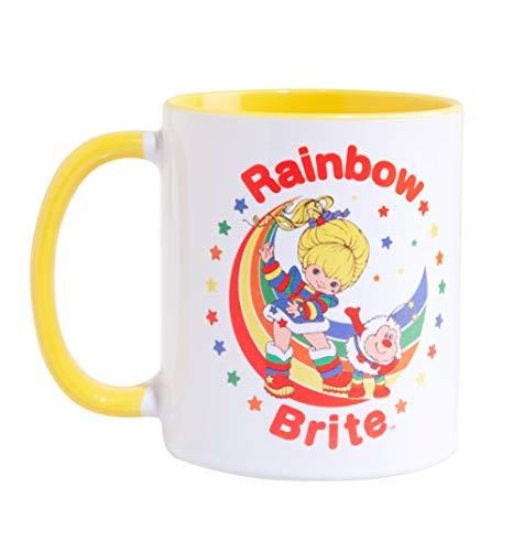 Rainbow Brite Stars Yellow Handle Mug