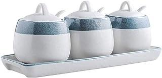 LDDYC Ustensiles de cuisine - Bouteille d'assaisonnement peinte - Pot créatif en céramique pour la maison, l'huile, le se...