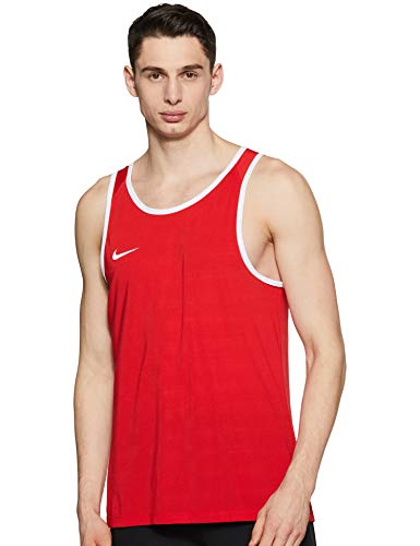 NIKE M Nk SL Crossover Camiseta sin Mangas de Baloncesto, Hombre, Rojo (University Red/University Red/White), S