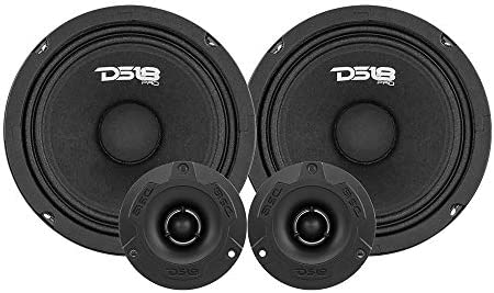 DS18 PRO GM6 4PK Mid and High Complete Package Includes 2X Midrange Loudspeaker 6 and 2X Aluminum product image