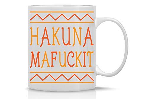 Hakuna Mafuckit 11oz Coffee Mug Funny Sarcastic Saying Novelty Ceramic Cup For Him/Her For Birthday,...