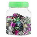 HEALLILY 90 Piezas Mini Washi Tapes Set en Un Tarro de Alcancía Cintas de Enmascarar Decorativas Adhesivo Adhesivo Glitter Tape para Suministros de Fiesta Escolar DIY Manualidades