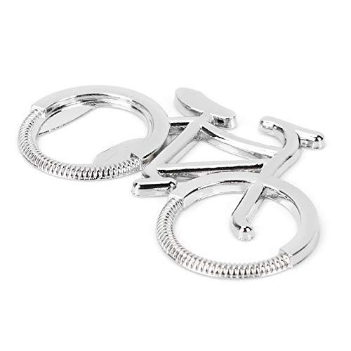Abrebotellas de metal con diseño de bicicleta artesanal, abridor de bebidas, llavero para hombres, mujeres, regalo de boda