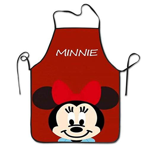 Lawenp Delantales Personalizados Minnie Delantal de Cocina Unisex con Cuello Ajustable para cocinar, Hornear, jardinería, 28 x 21 Pulgadas