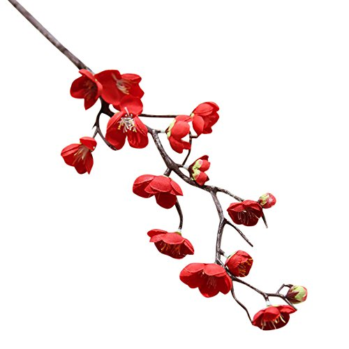 Fleurs Artificielles,Fausse Fleur,KItipeng artificielle faux fleurs Prune Bouquet en Soie pour Décoration de Mariage Bureau Home Soirée Ameublement Festif Décoration de la maison Arrangement de Fleur