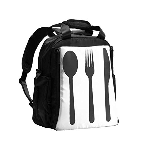 Diaper Bag with Changing Mat Cutlery Set Spoons Forks and Knifes Change Bag for Men Multifunction Travel Backpack with Diaper Changing Pad for Baby Care