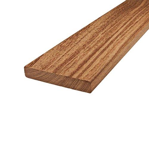 Terrassendielen aus Cumaru von BioMaderas®, 120mm Breite, 21mm Stärke (153cm Länge)