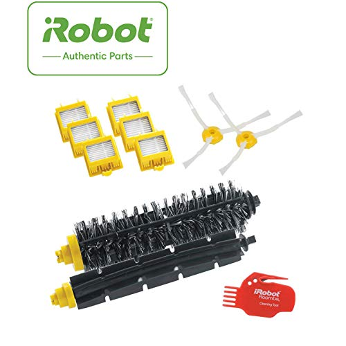iRobot 4503462 Robot aspirador Filtro y cepillo accesorio y suministro de vacío - Accesorio para aspiradora (Robot vacuum, Filtro y cepillo, Negro, Rojo, Amarillo, 6 pieza(s), 1 brush cleaning tool)