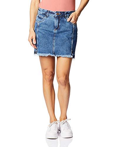 Saia Jeans, Zune Denim, Feminino, Indigo, 46