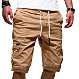 Men's Sport Pure Color Bandage Casual Loose Sweatpants Drawstring Shorts PantMen Shorts Casual Shorts for Men red Shorts Navy Shorts Guys Shorts Pink Shorts Shots Blue Shorts Cargo Shorts