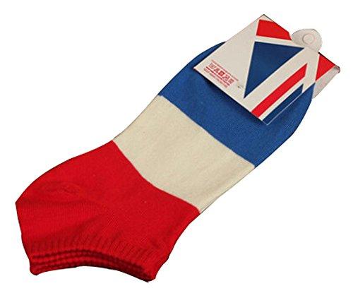 BLANCHO BEDDING Lot de 2 Flag Chaussettes en Coton Chaussettes pour Hommes France #01
