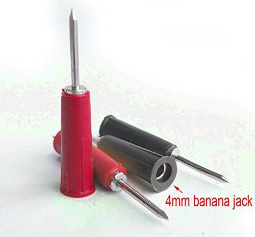 SHENMQ 2 stks 4mm Banaan Jack naar 2mm Pin Tip Plug Adapter voor Multimeter Probes test