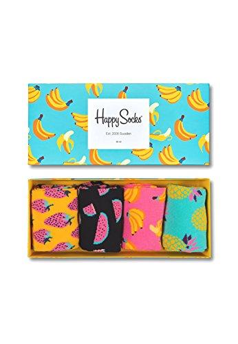 bester Test von socken der welt Happy Socks Multicolor Multicolor Baumwollsocken Geschenkbox für Männer und Frauen, Multicolor…